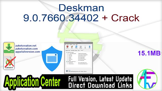 Deskman 9.0.7660.34402 + Crack