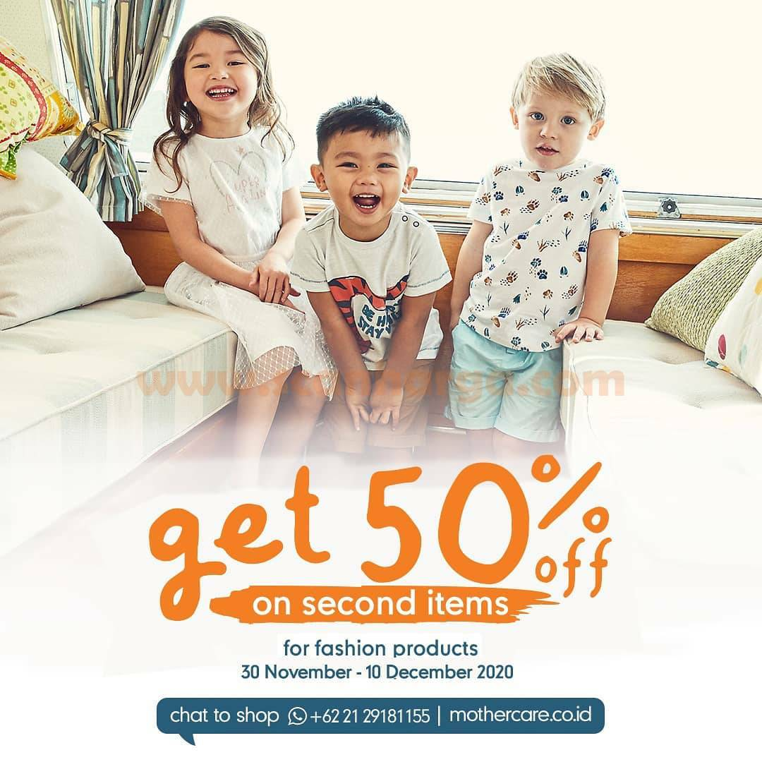 Mothercare Promo Fashion Deals - Disc. 50% Off on Second Items
