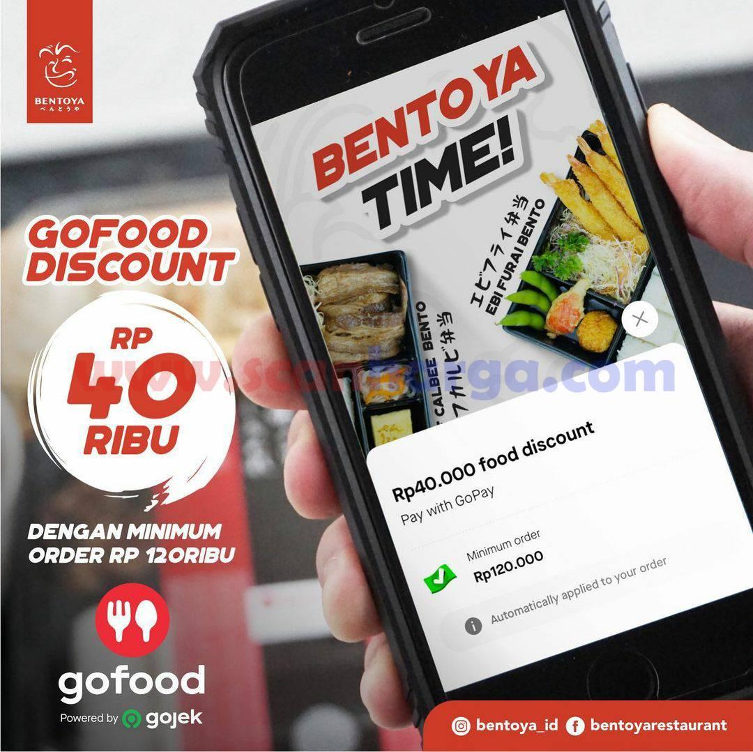 BENTOYA Spesial Promo GOFOOD! DISKON hingga Rp 40.000
