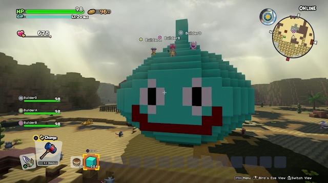 Dragon Quest Builders 2 giant built Slime monument Square Enix E3 2019
