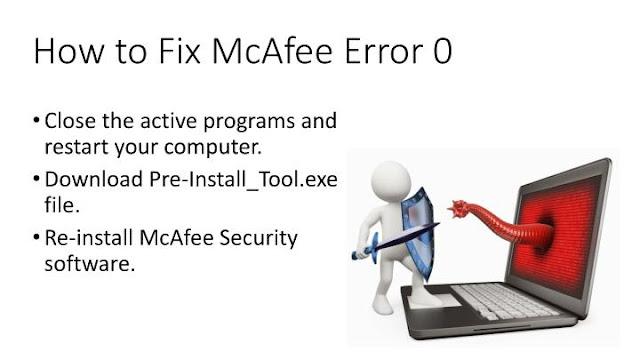 How to Fix McAfee Error Code 0