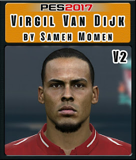 PES 2017 Faces Virgil Van Dijk by Sameh Momen