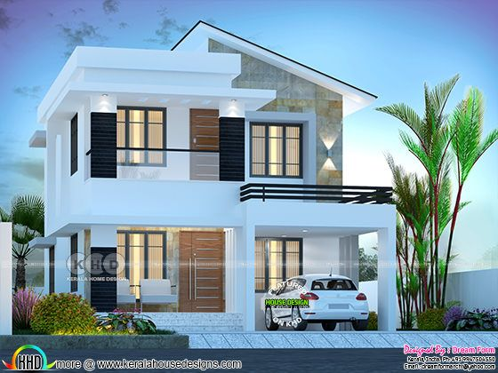 3 bedroom 1750 sq.ft beautiful modern home design