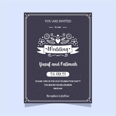 contoh undangan pernikahan dalam bahasa inggris singkat