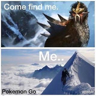 Gambar meme lucu kocak mencari pokemon go buat dp bbm