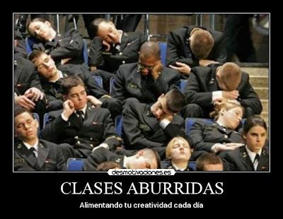 clases aburridas