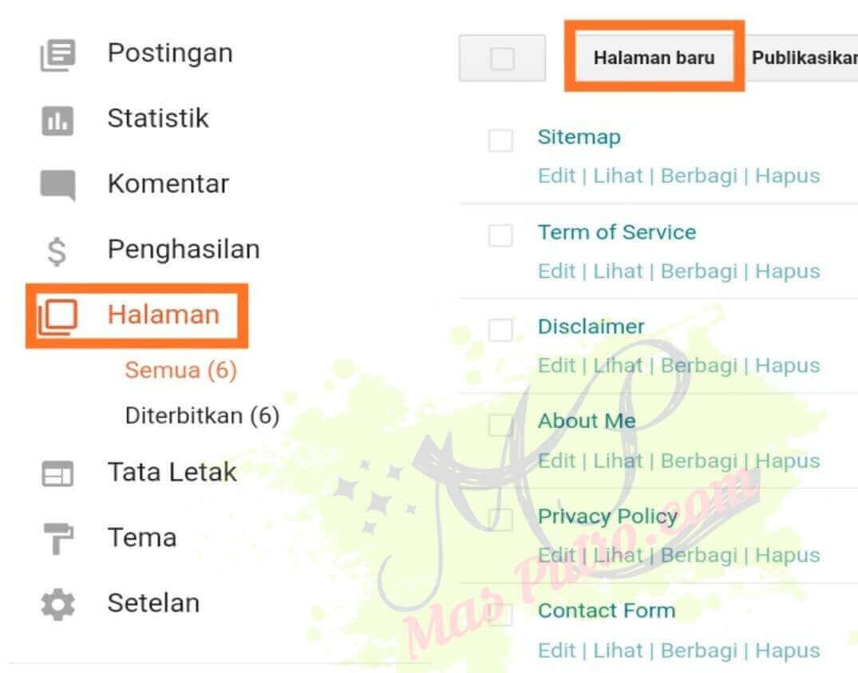 Cara Membuat Contact Form Blog Pada Halaman Statis Blog