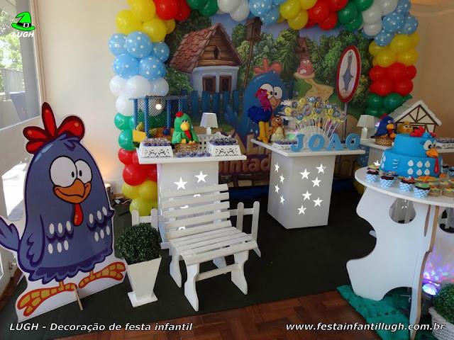Decoração provençal infantil da Galinha Pintadinha