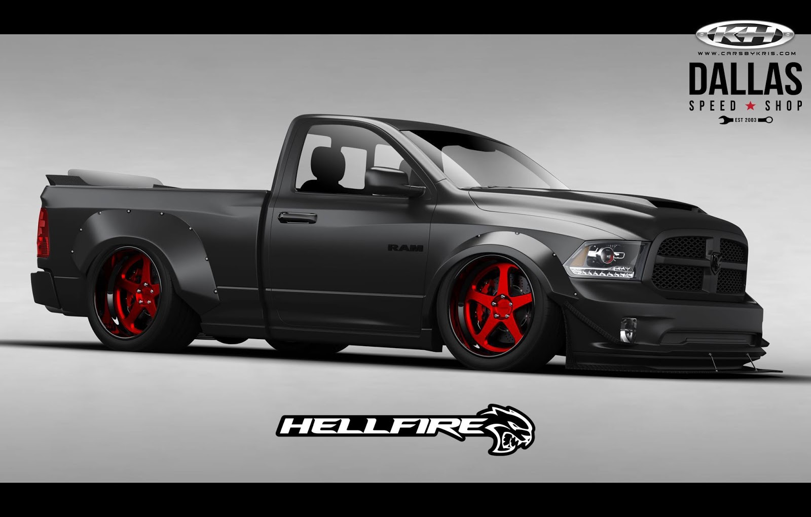 Hellcat Powered Ram Pickup With 775hp Ready To Burn It Up At Sema Carscoops