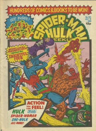 Spider-Man and Hulk Weekly #383, the Frightful Four