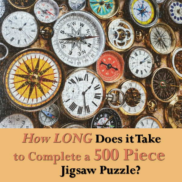 How Long Does it Take to do a 500 Piece Jigsaw Puzzle? jigsaw puzzles time to finish complete