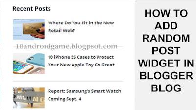 How to Add Random Post Widget in Blogger blog   Random Post Widget for Blogger