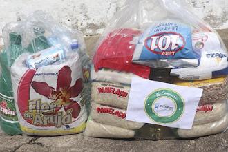 """II etapa da campanha """"nem vírus, nem fome: compaixão"""" distribui 2050 kits de alimentos e produtos de limpeza em Itapiúna, Baturité e Ibaretama"""