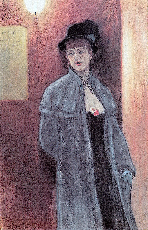 an 1882 European sex worker by Félicien Rops