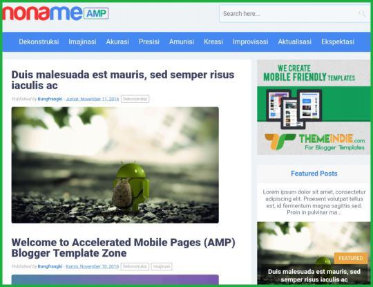 NonameAMP-AMP-Blogger-Template