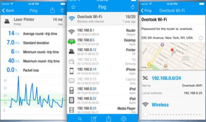 Aplikasi iPhone - Fing