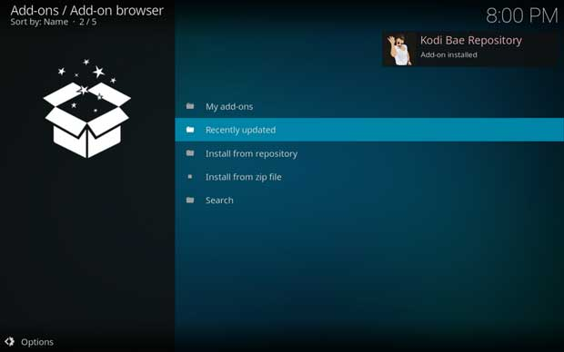 instal dan setting add-on kodi exodus 7