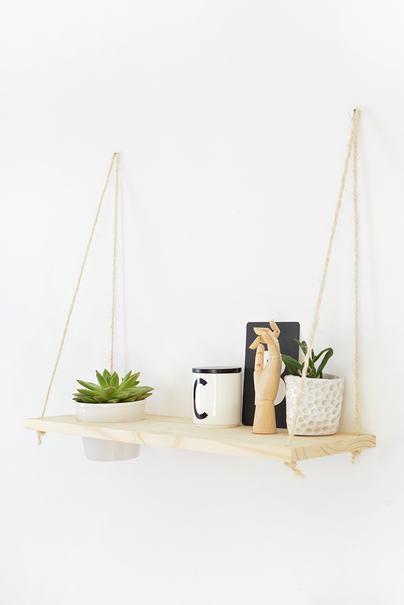 plant shelf DIY