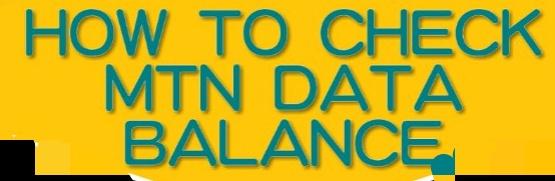 How to check mtn data balance and bonus data balance