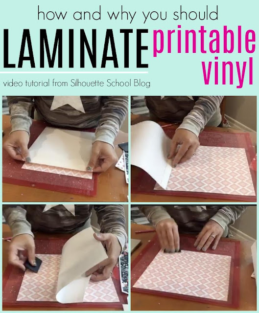 silhouette 101, silhouette america blog, printable vinyl, laminate, Adhesive Printable vinyl