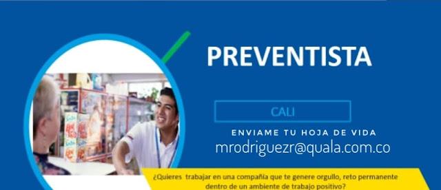 Oferta de Trabajo y Empleo en Cali como Preventista