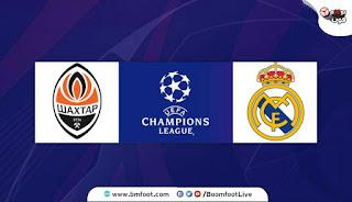 مباراة ريال مدريد ضد شاختار بث مباشر