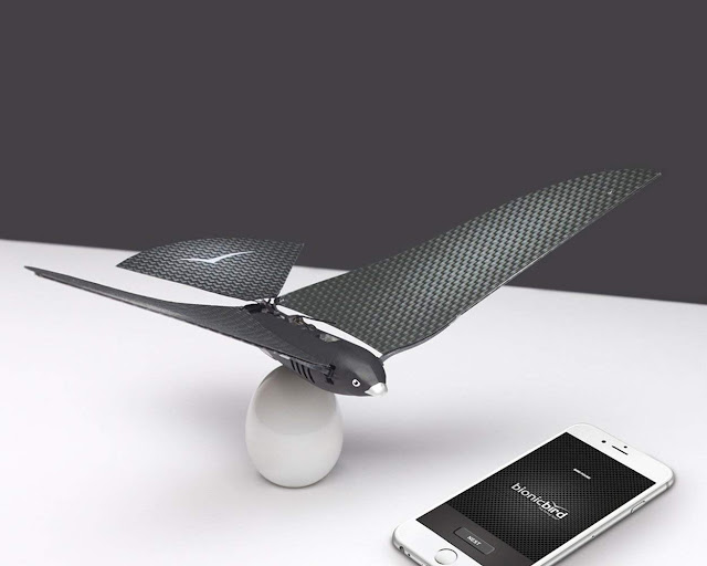 Bionic Bird Shaped Spy drone with Smartphone Connectivity