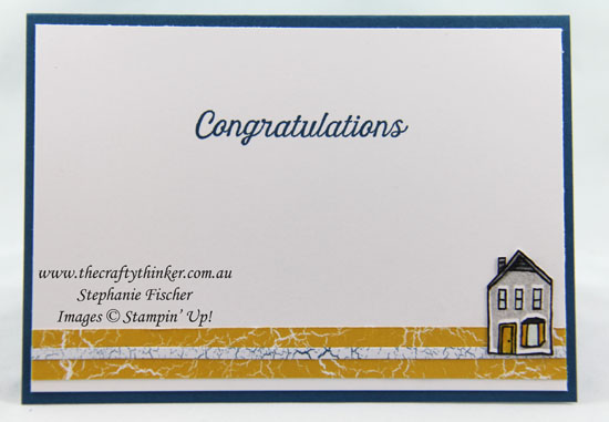 Housewarming Card, In The City, #thecraftythinker, Stampin Up Australia Demonstrator Stephanie Fischer, Sydney NSW