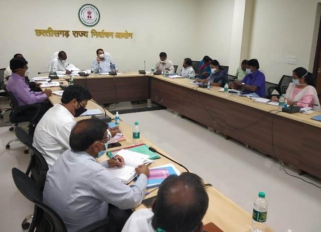 राज्य निर्वाचन आयुक्त ने 13 नगरीय निकायों में निर्वाचन की प्रारंभिक तैयारियों की समीक्षा की