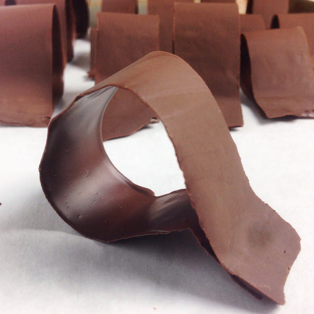 Unwrapped Loops of Tempered Chocolate for Bow