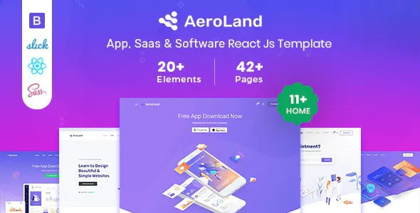 Best App & Sass Landing Page Template