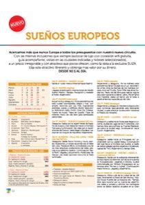 Catálogo Transaptur Circuitos Sueños Europeos 2018