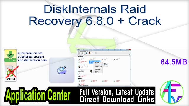 DiskInternals Raid Recovery 6.8.0 + Crack