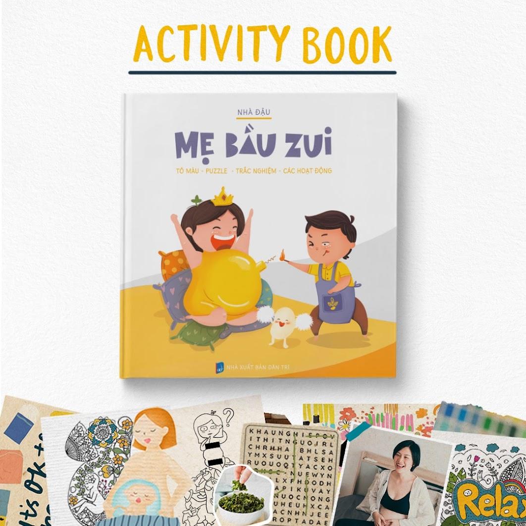 [A116] Sách tô màu Chín Tháng Mười Ngày - Mẹ Bầu Zui