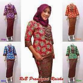 Model Terbaru Baju Batik Seragam Wanita Untuk Kerja