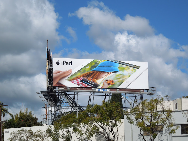Butterfly girl iPad billboard