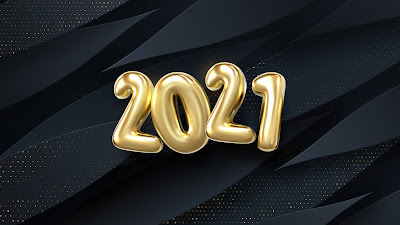 Elegant black and gold new year 2021