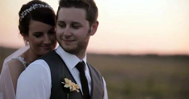 صورة رومانسية في أحد حفلات الزفاف