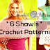 6 Shawls with patterns