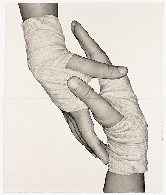 Karl Haendel Double Dominant 11 (Amanda Ross-Ho), 2018 Pencil on paper 261.62 x 218.44 cm