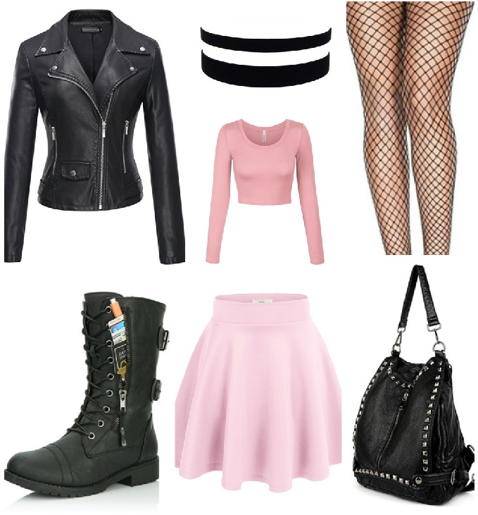 8df3d755ad2e pastel goth outfits fashion blogger fishnet outfit polyvore tumblr outfit