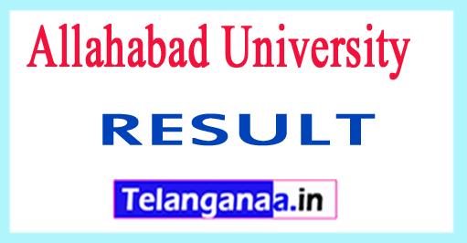 Allahabad University Exam Result 2018 Allahabad University UG PG Results