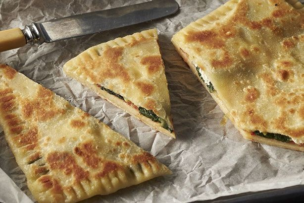 Sauteed Leek, Silverbeet And Hot Sopressa Gozleme Recipe