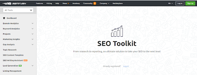 It is a super SEO tools kit that generates you a report on the performance of your domains