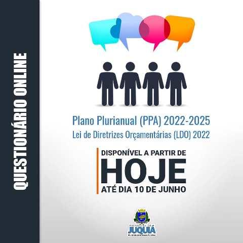 Coleta de sugestões - ciclo - plano plurianual PPA 2022-2025 e lei de diretrizes orçamentárias LDO 2022