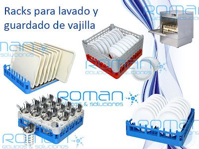 Roman equipos soluciones racks cestos pl sticos para - Rack para platos ...