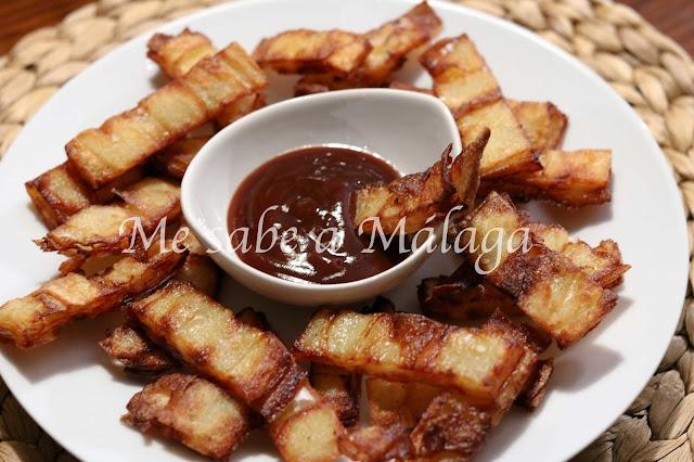 receta de patatas fritas hojaldradas