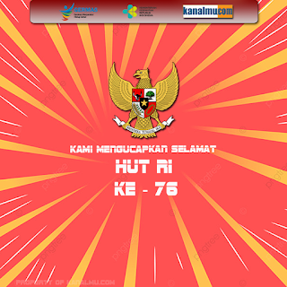 poster ucapan  hut ri ke 76 dirgahayu indonesia - kanalmu