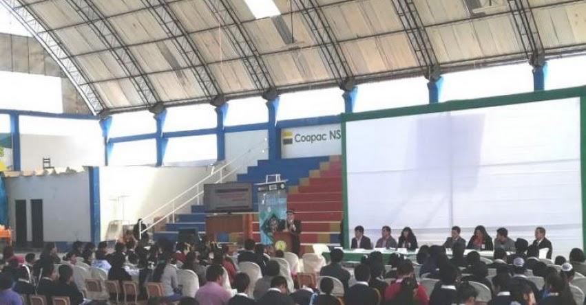 FONDEP participó en el Primer Congreso de Estudiantes Líderes en Cajabamba - Cajamarca - www.fondep.gob.pe