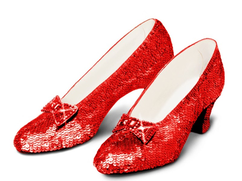 Cartoon Wizard Of Oz Red Shoes